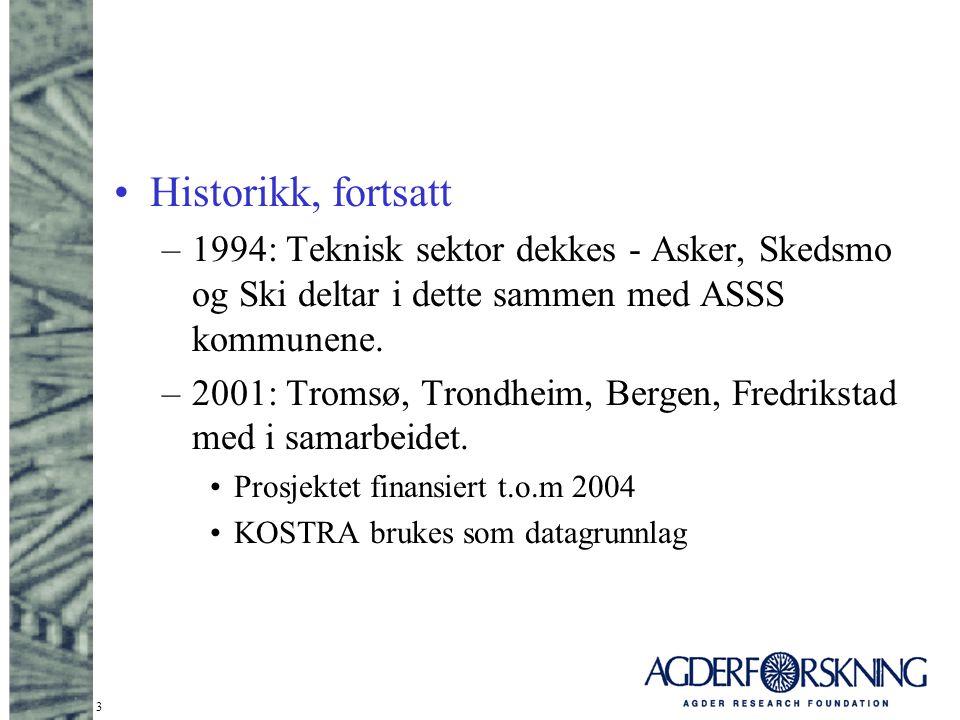 Historikk, fortsatt 1994: Teknisk sektor dekkes - Asker, Skedsmo og Ski deltar i dette sammen med ASSS kommunene.