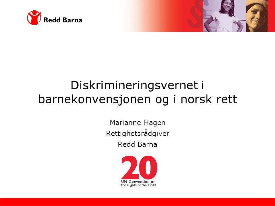 Diskrimineringsvernet i barnekonvensjonen og i norsk rett