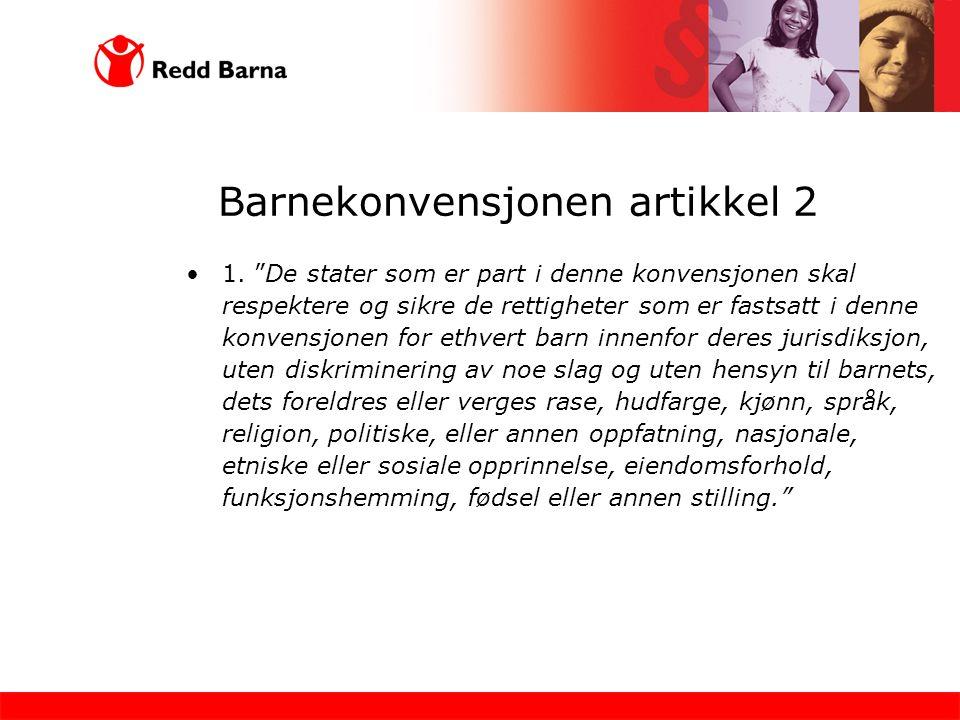 Barnekonvensjonen artikkel 2