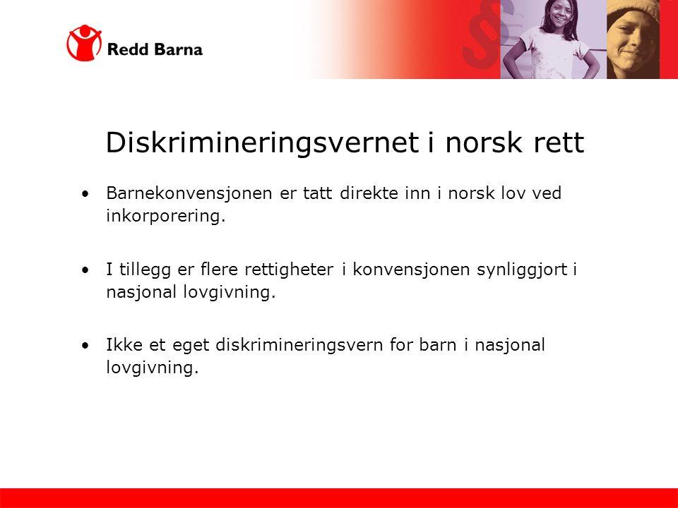 Diskrimineringsvernet i norsk rett