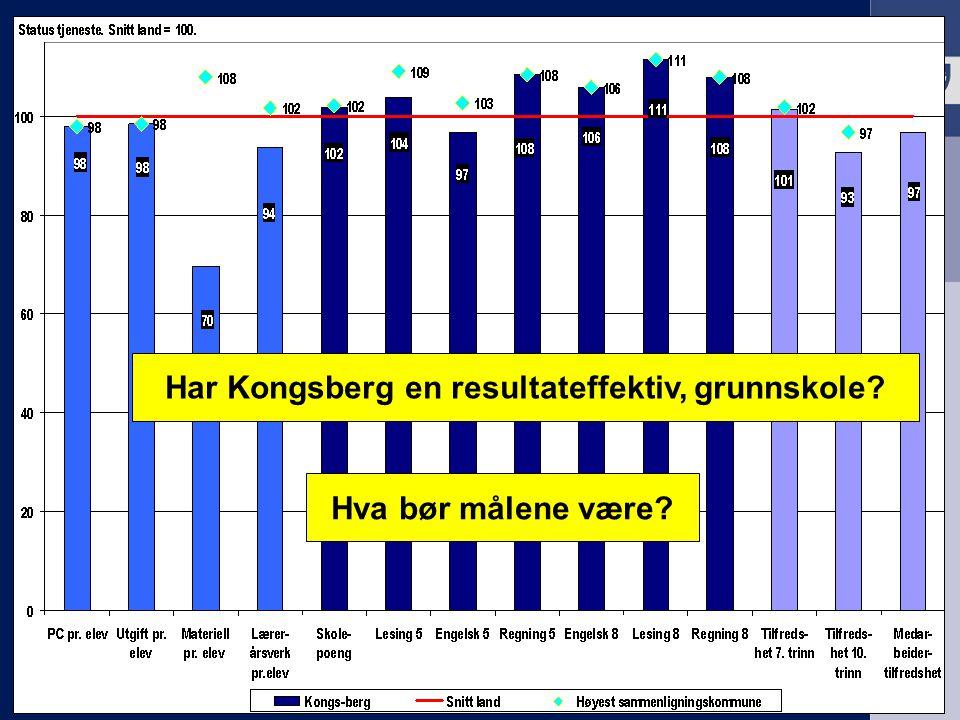 Har Kongsberg en resultateffektiv, grunnskole