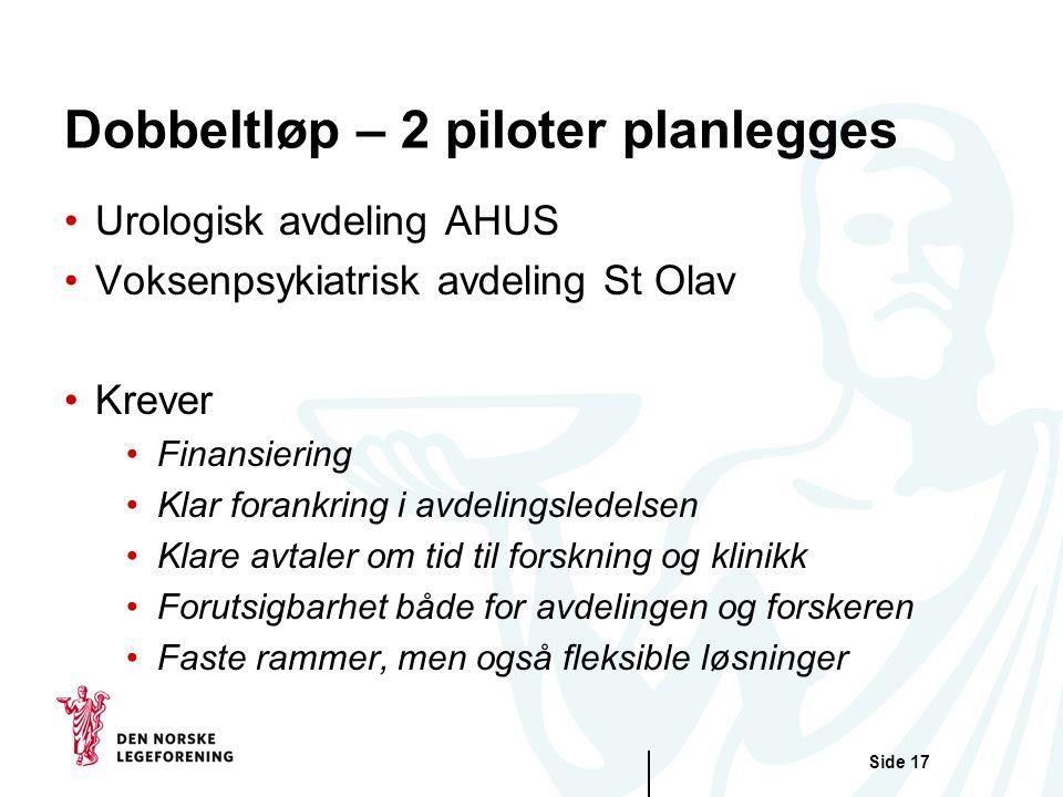 Dobbeltløp – 2 piloter planlegges