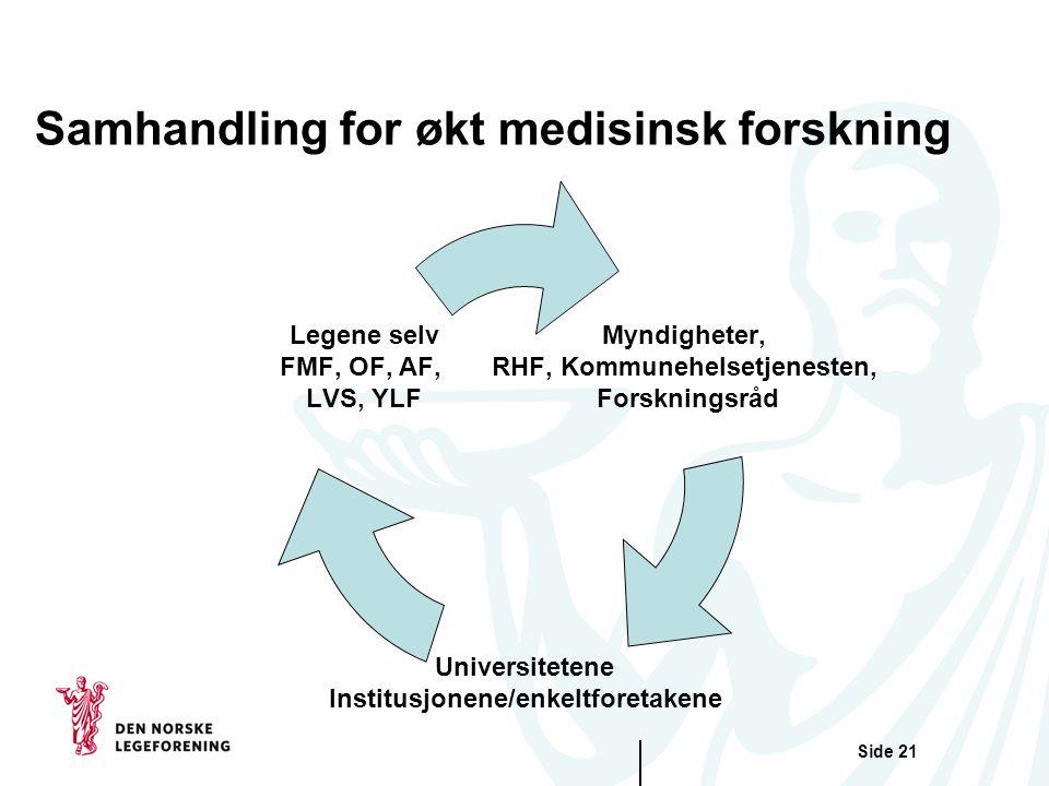 Samhandling for økt medisinsk forskning
