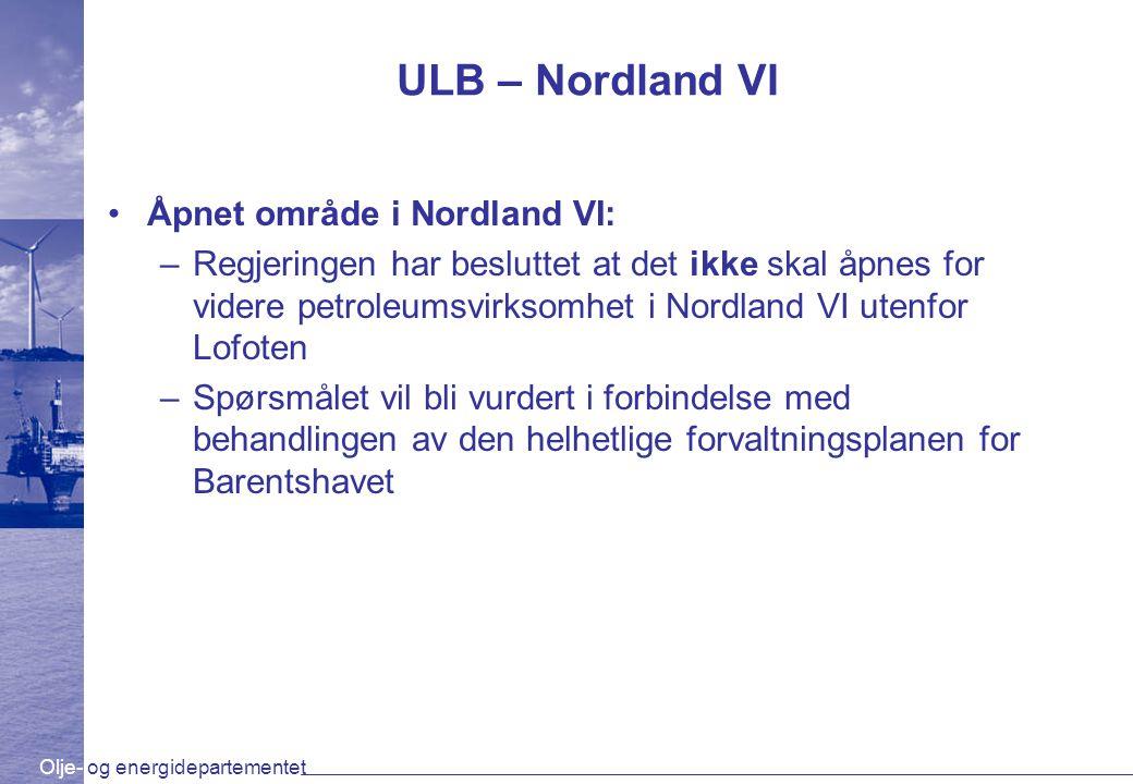 ULB – Nordland VI Åpnet område i Nordland VI: