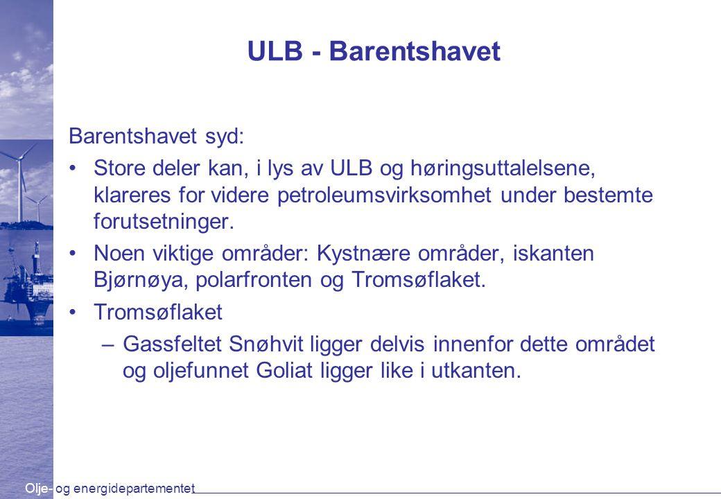 ULB - Barentshavet Barentshavet syd: