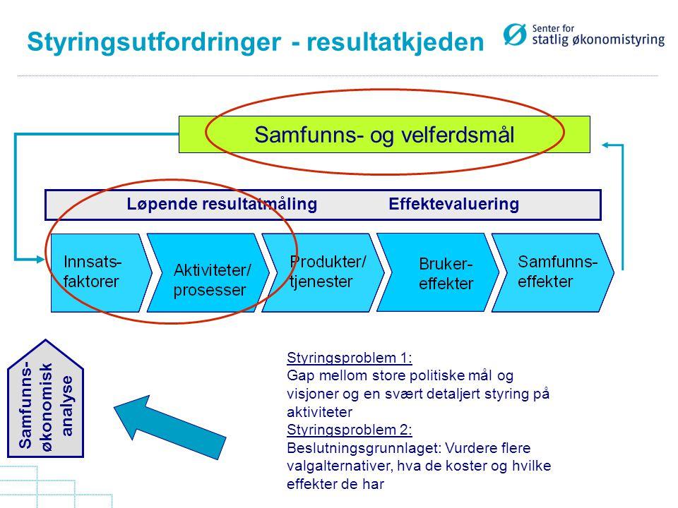 Styringsutfordringer - resultatkjeden