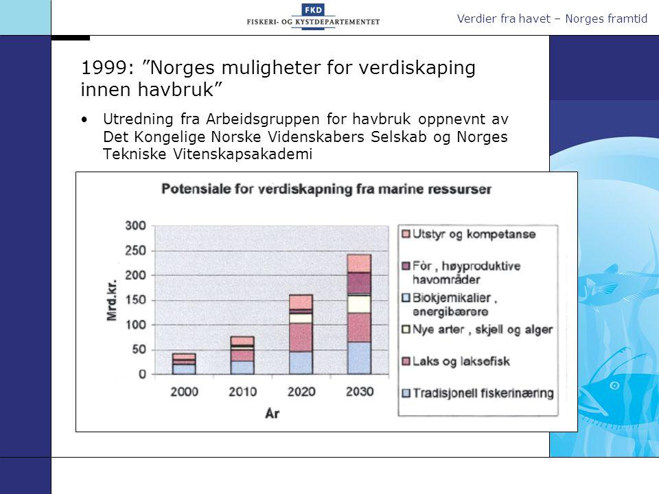 1999: Norges muligheter for verdiskaping innen havbruk