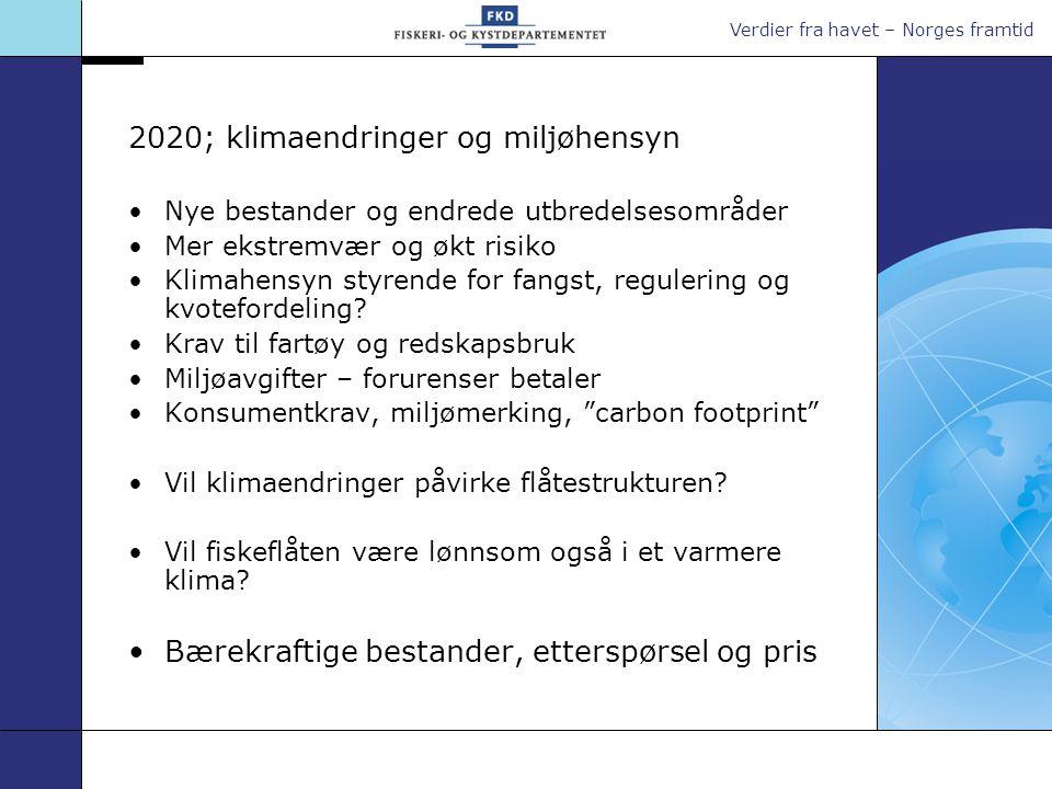 2020; klimaendringer og miljøhensyn