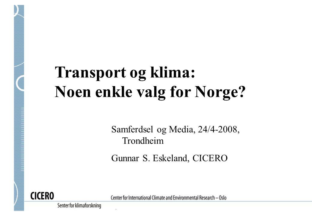Noen enkle valg for Norge