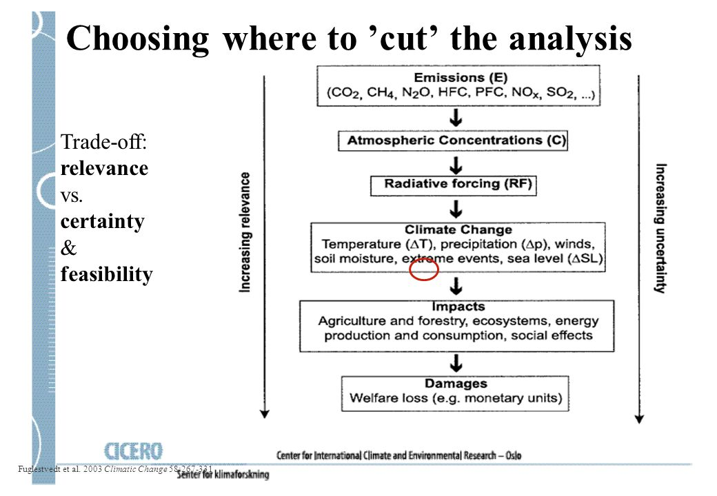 Choosing where to 'cut' the analysis