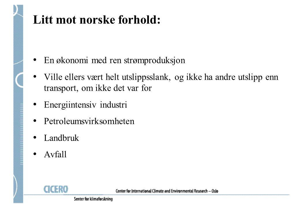 Litt mot norske forhold: