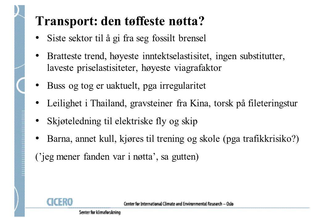 Transport: den tøffeste nøtta