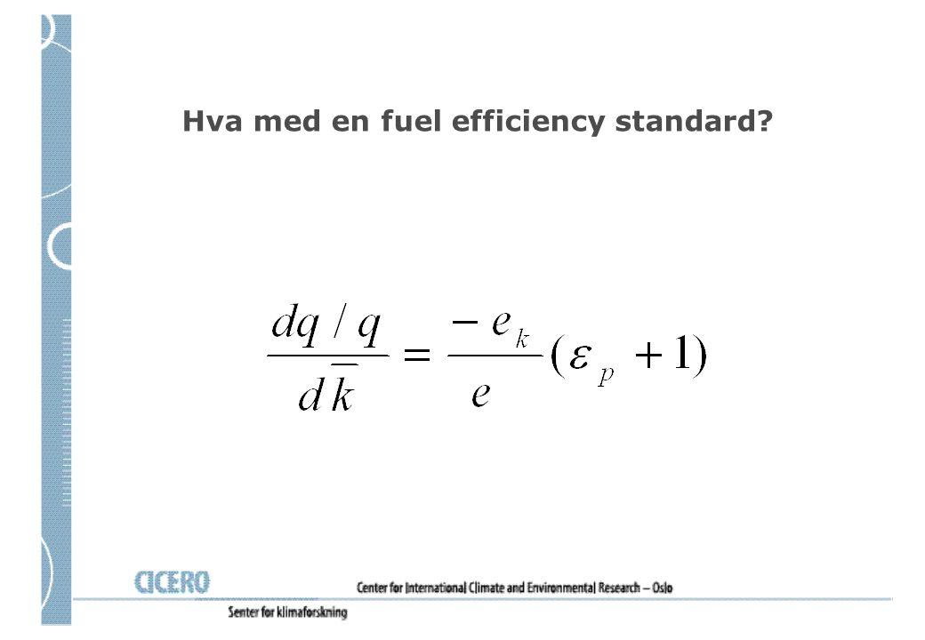 Hva med en fuel efficiency standard