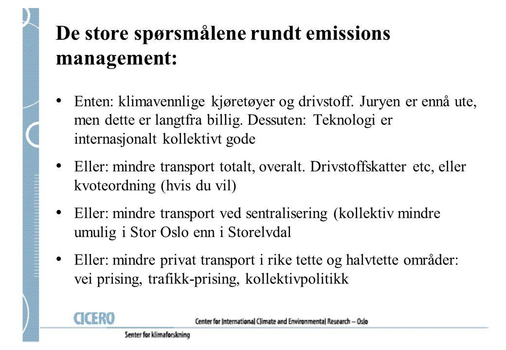 De store spørsmålene rundt emissions management: