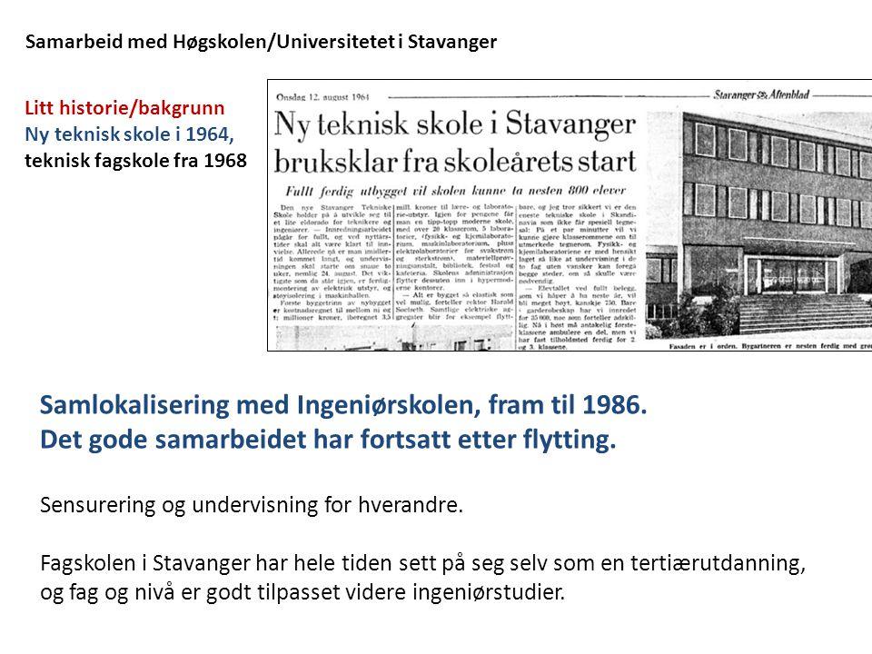 Samarbeid med Høgskolen/Universitetet i Stavanger
