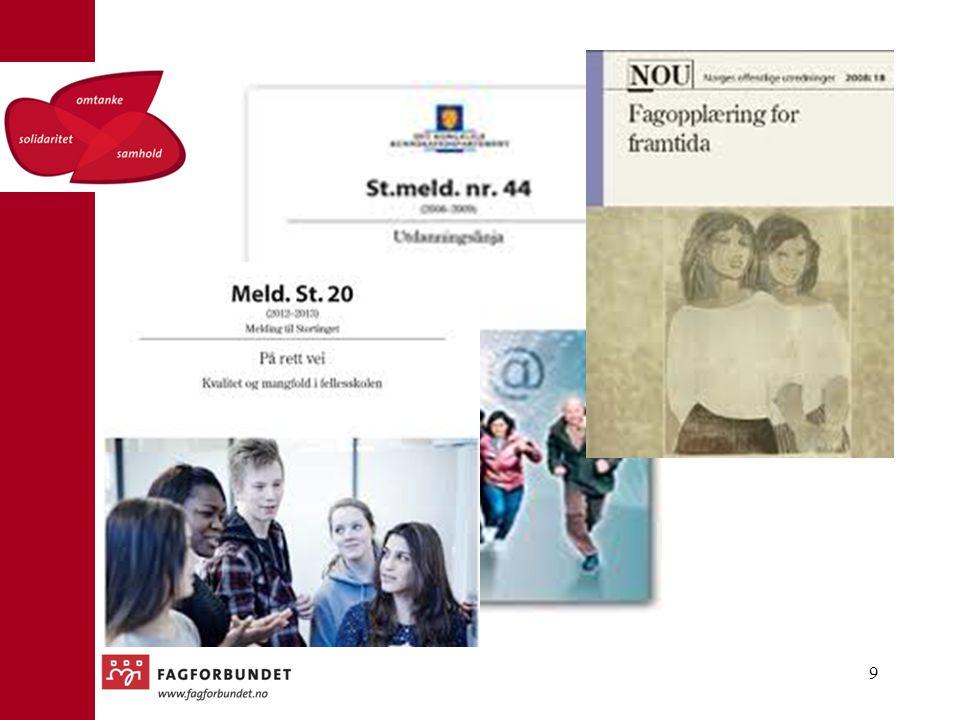 Dette er tre sentrale dokumenter som alle har handlet mye om fag- og yrkesopplæringa, men som også har handlet om fagskolen.