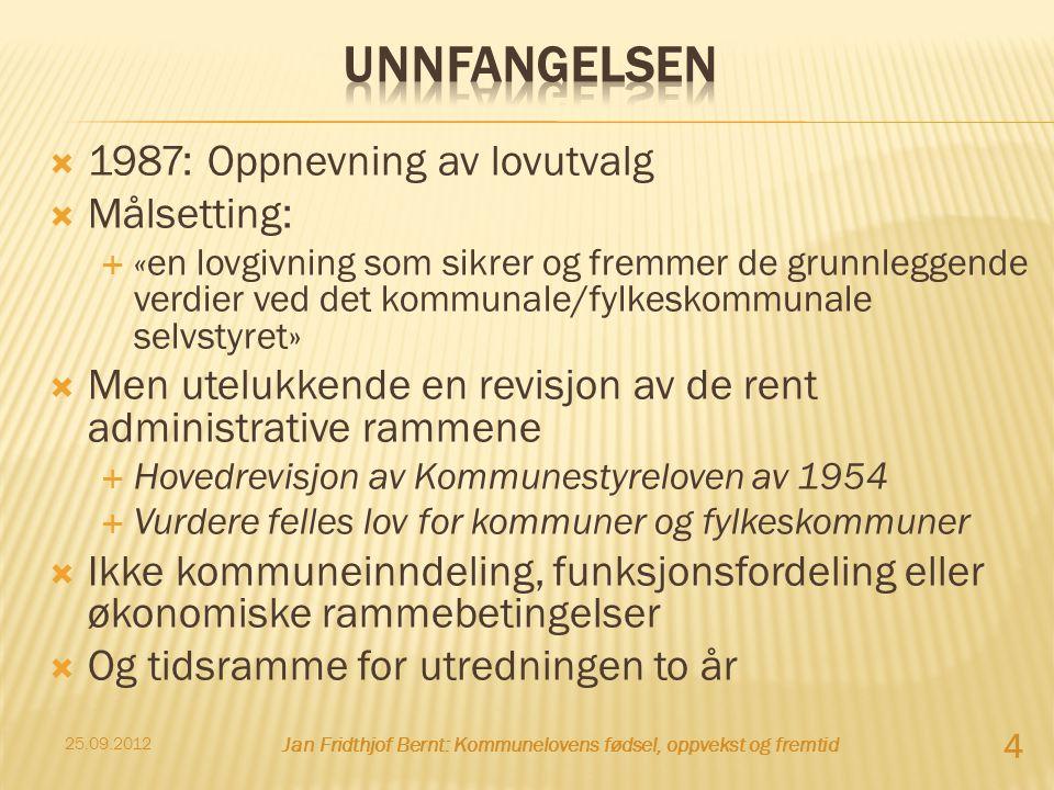 Jan Fridthjof Bernt: Kommunelovens fødsel, oppvekst og fremtid