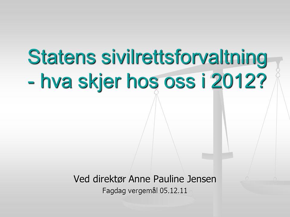 Statens sivilrettsforvaltning - hva skjer hos oss i 2012