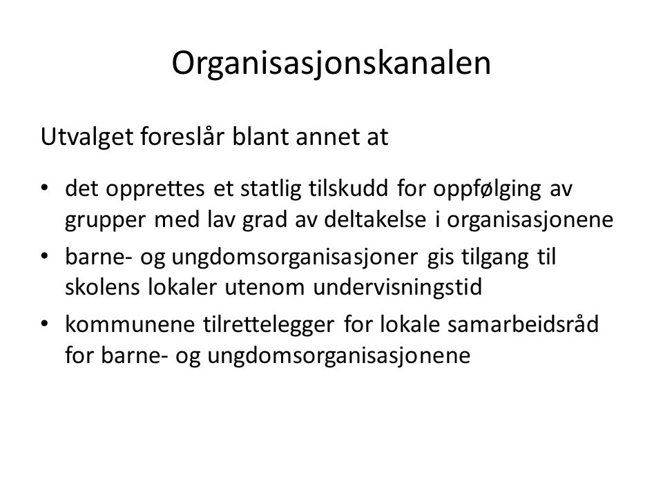 Organisasjonskanalen