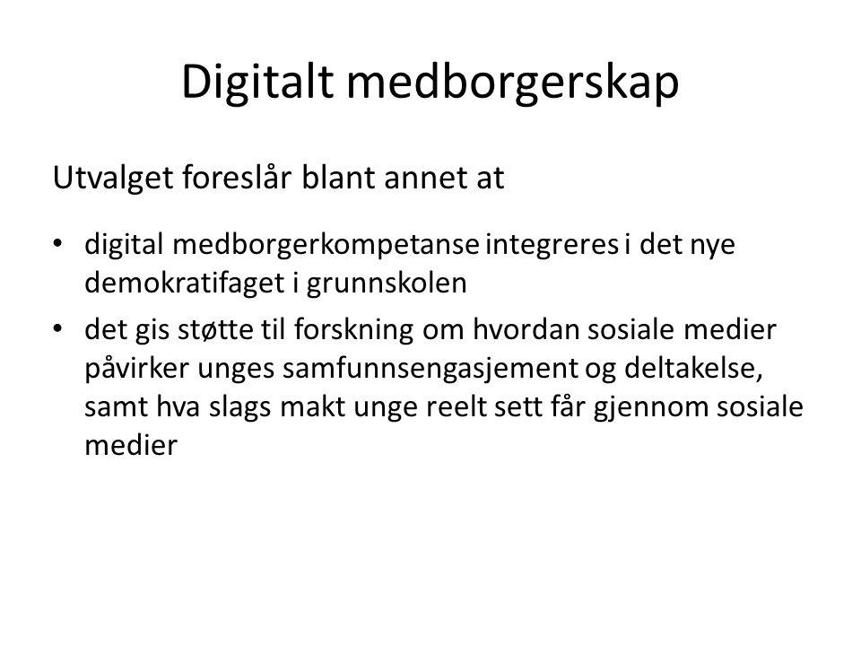 Digitalt medborgerskap