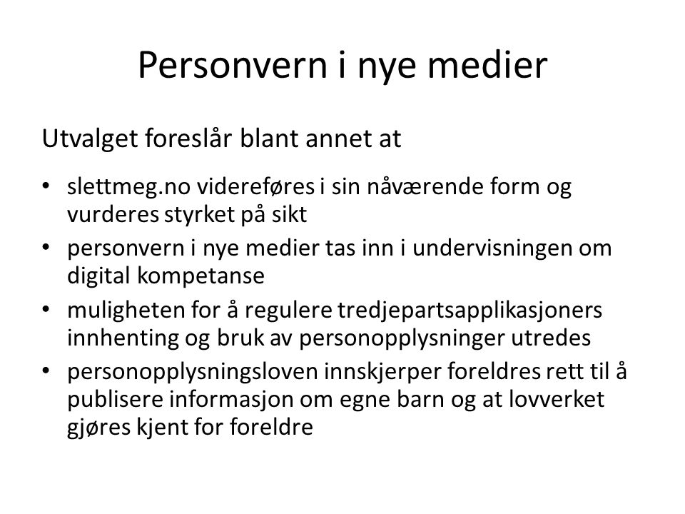 Personvern i nye medier