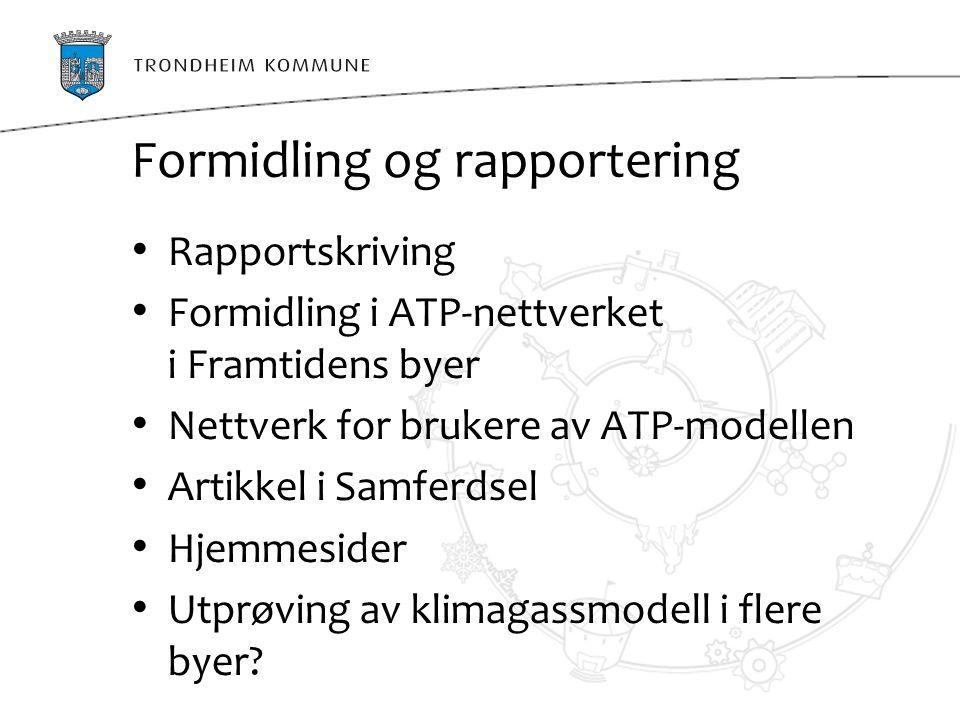 Formidling og rapportering