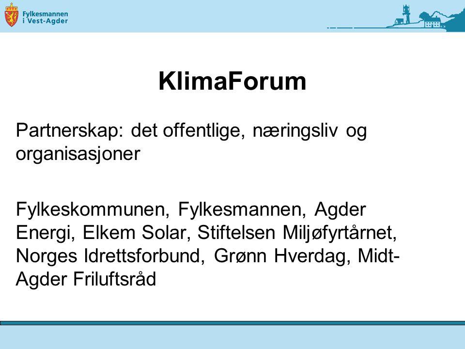 KlimaForum Partnerskap: det offentlige, næringsliv og organisasjoner