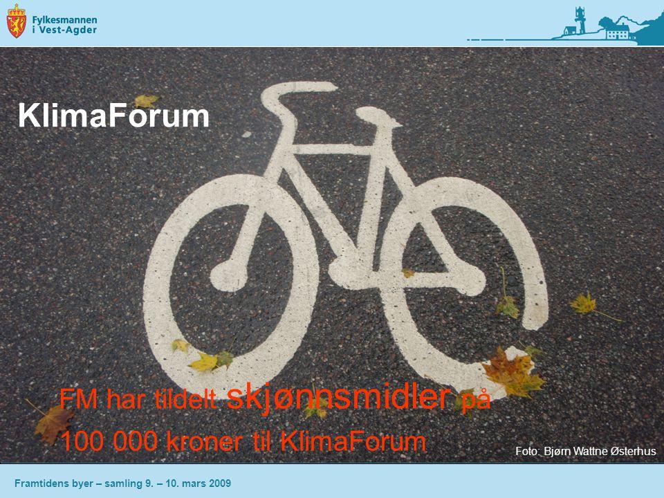 KlimaForum FM har tildelt skjønnsmidler på
