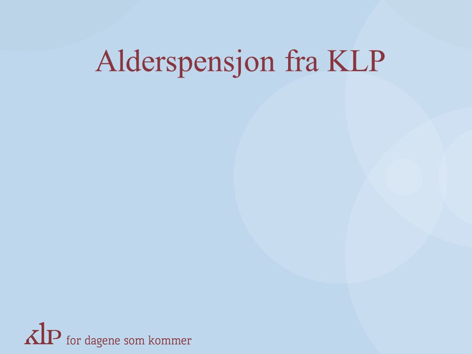 Alderspensjon fra KLP KAPITTELSIDE (Blå, norsk pay-off)
