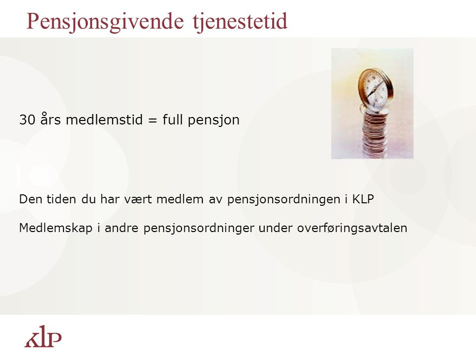 Pensjonsgivende tjenestetid