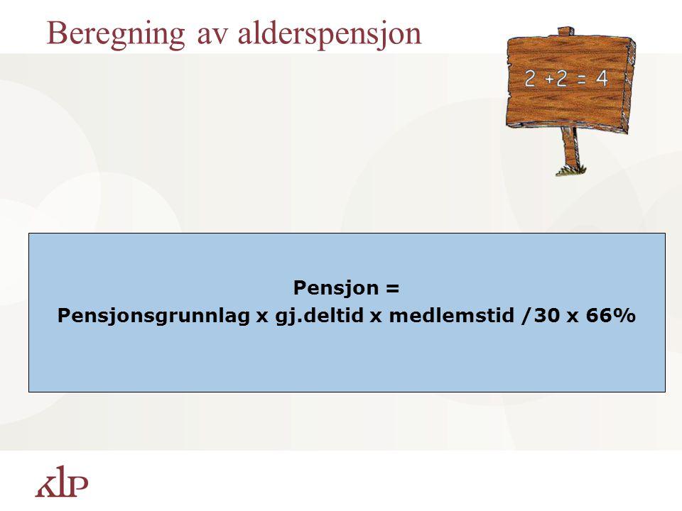 Beregning av alderspensjon