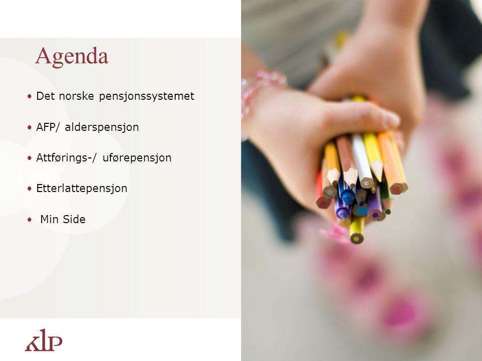 Agenda Det norske pensjonssystemet AFP/ alderspensjon