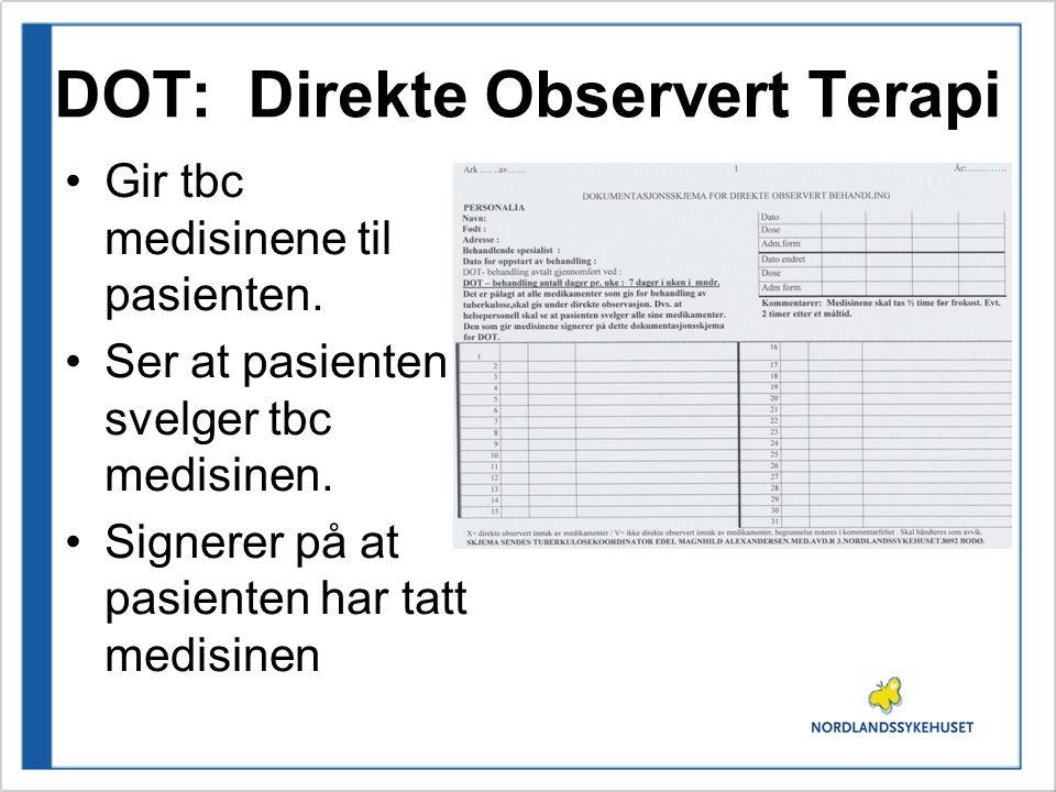 DOT: Direkte Observert Terapi