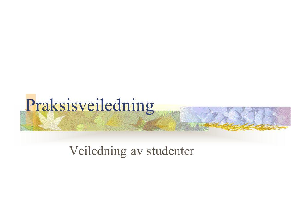 Veiledning av studenter