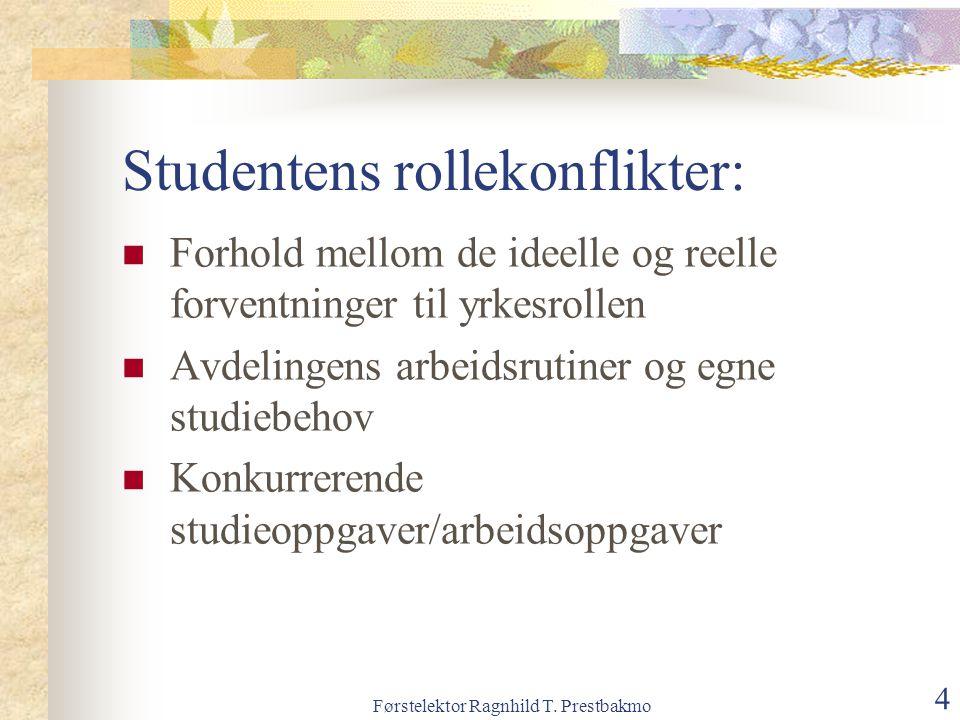 Studentens rollekonflikter:
