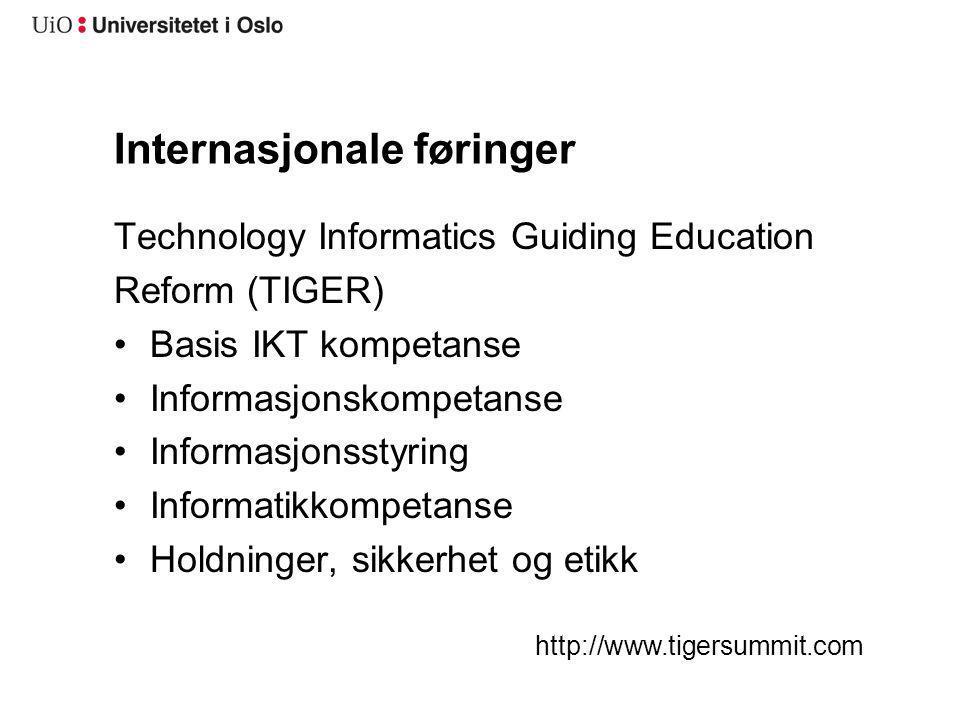 Internasjonale føringer