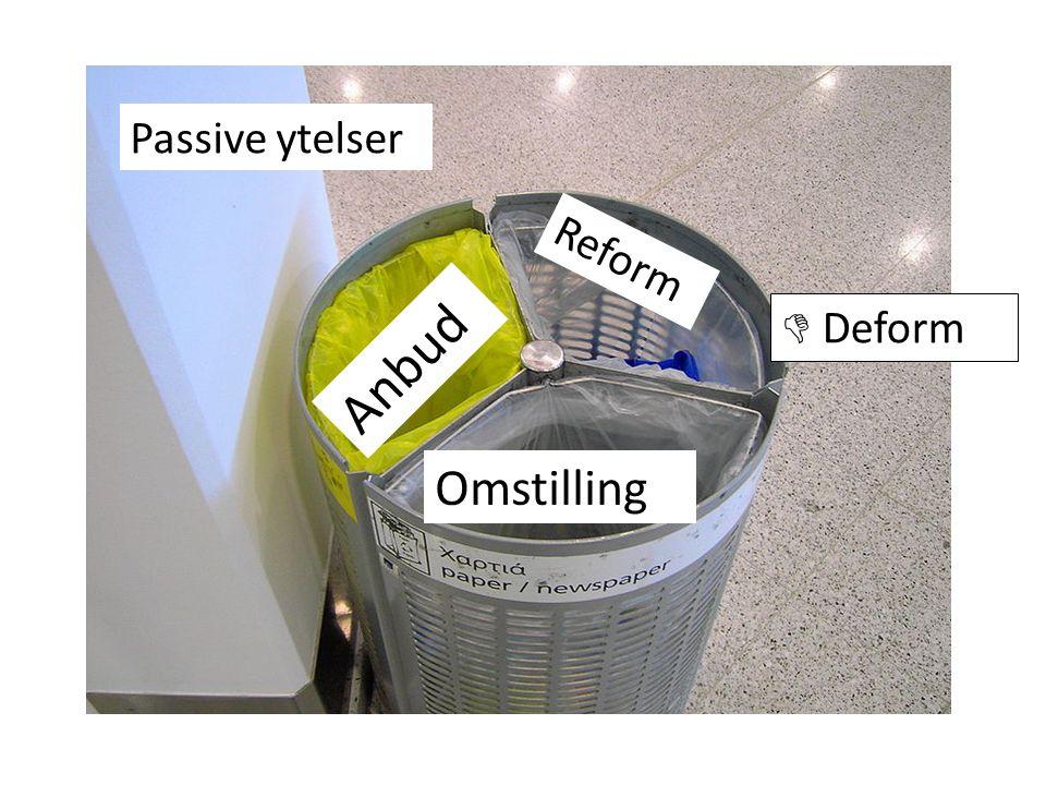 Passive ytelser Reform  Deform Anbud Omstilling