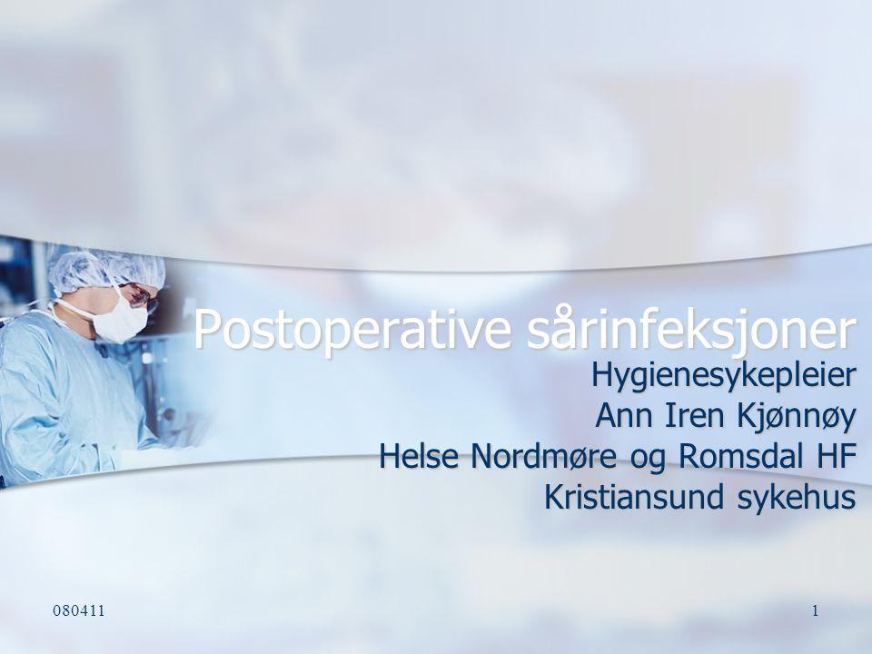 Postoperative sårinfeksjoner