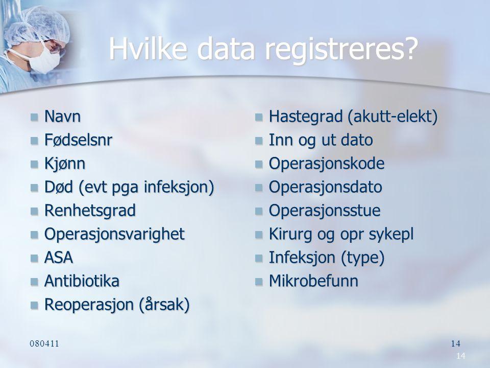 Hvilke data registreres