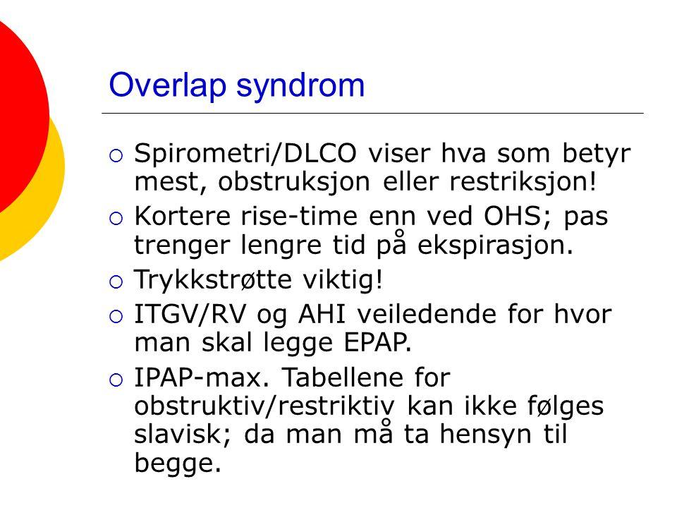 Overlap syndrom Spirometri/DLCO viser hva som betyr mest, obstruksjon eller restriksjon!