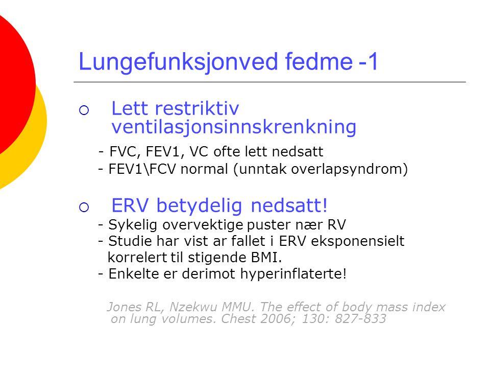 Lungefunksjonved fedme -1