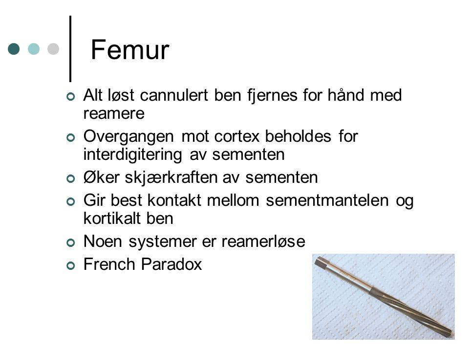 Femur Alt løst cannulert ben fjernes for hånd med reamere