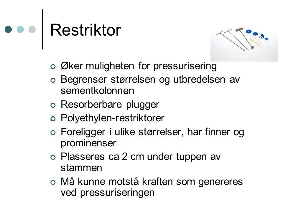 Restriktor Øker muligheten for pressurisering