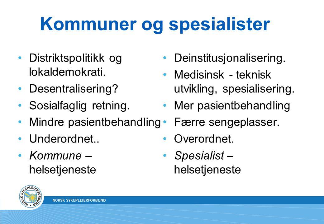 Kommuner og spesialister