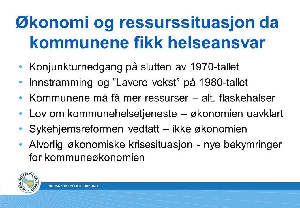 Økonomi og ressurssituasjon da kommunene fikk helseansvar