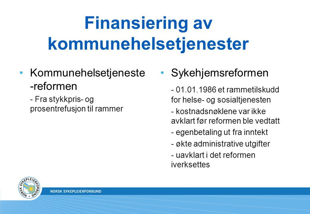 Finansiering av kommunehelsetjenester