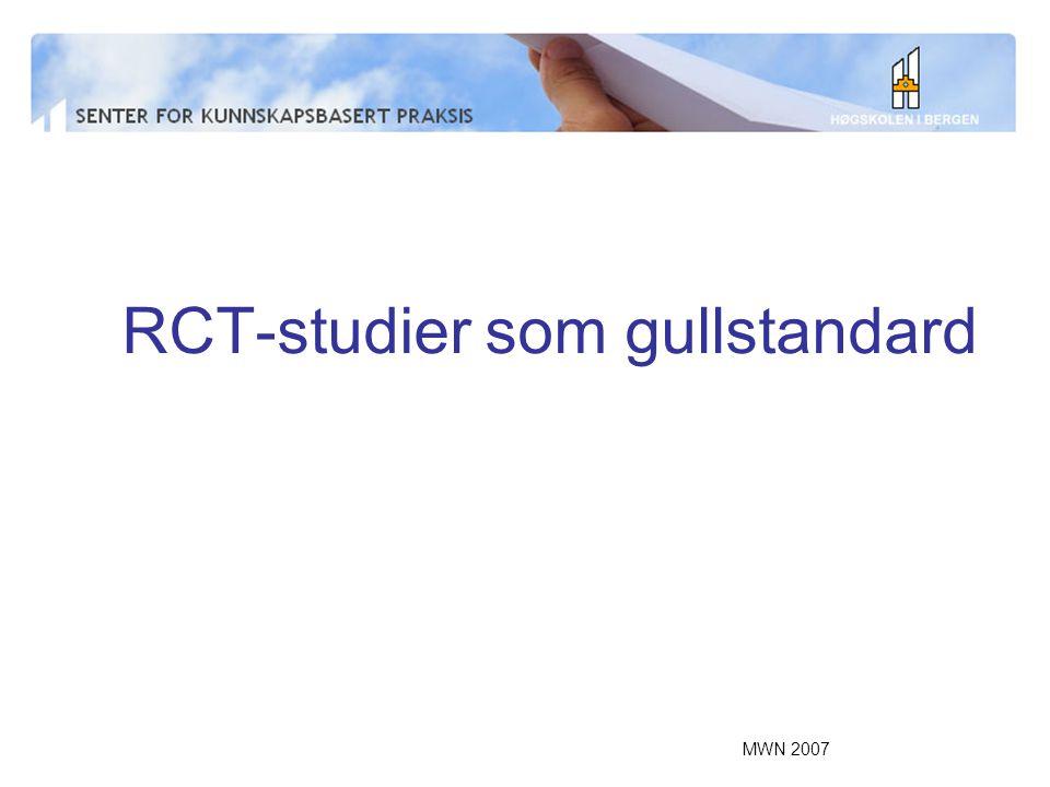RCT-studier som gullstandard