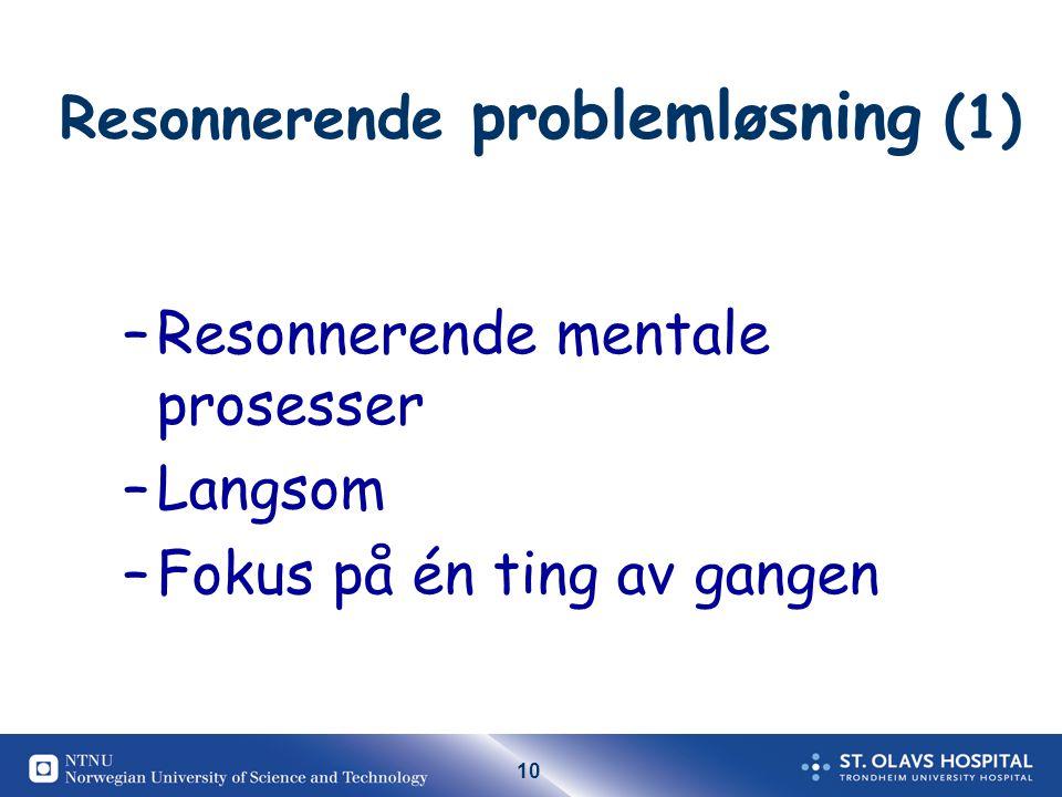 Resonnerende problemløsning (1)