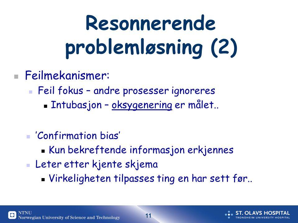 Resonnerende problemløsning (2)