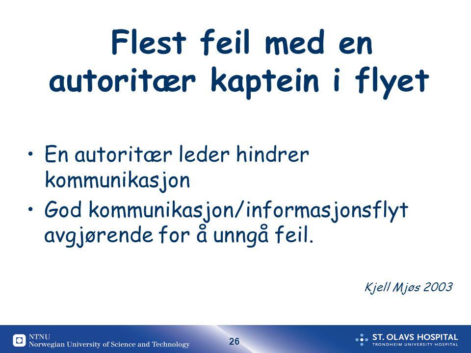 Flest feil med en autoritær kaptein i flyet